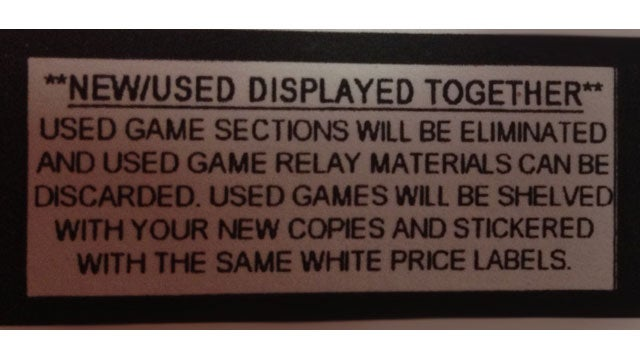 EB Games/GameStop Gets Rid of Used Games Section [Update]