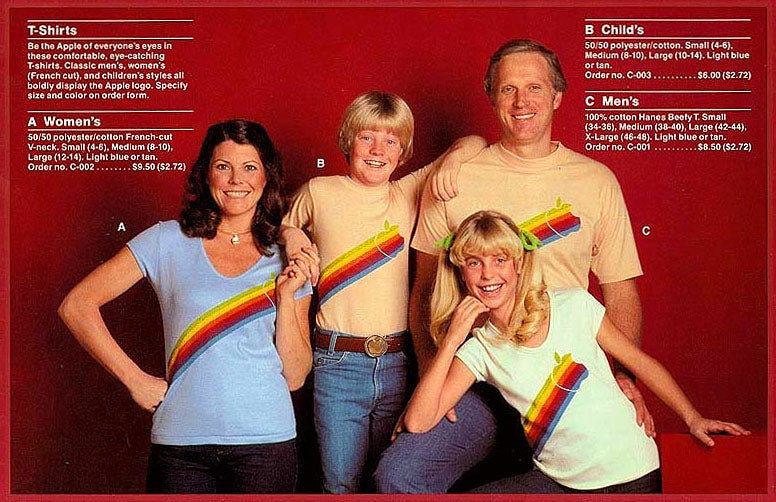 Before They Were Cool: Apple's Flamboyant Vintage T-Shirt Ad