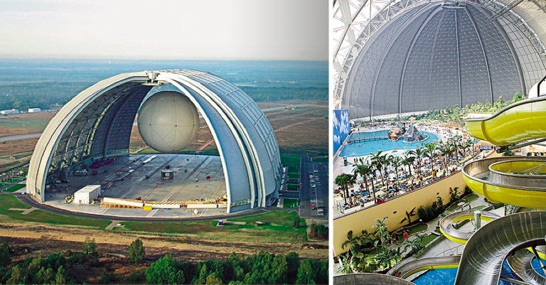 How a Colossal Airship Hangar Became a Colossal Water Park