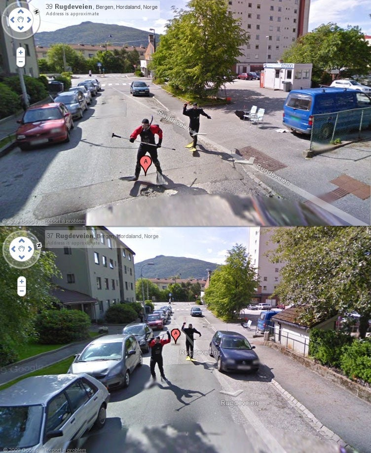 Street View Scuba Divers Gallery