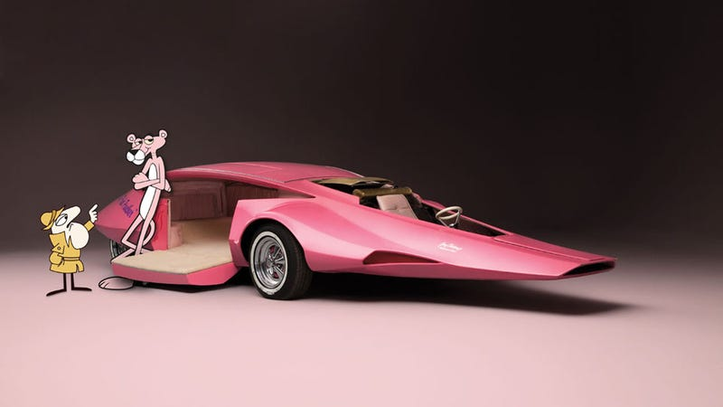 The Pink Panther's car goes up for auction