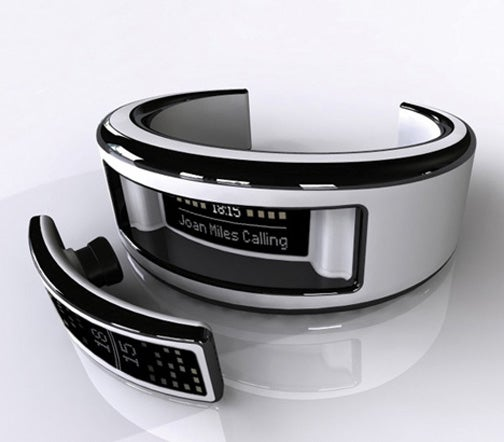 Sleek Bracelet Cellphone Has Integrated Headset for Cool Uhura Wannabes