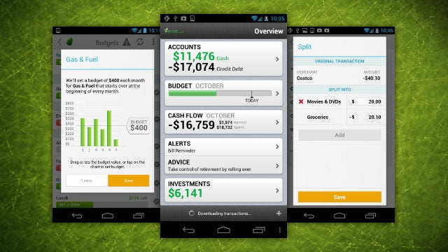 Mint Updates with Budgeting and Split Transactions for Android