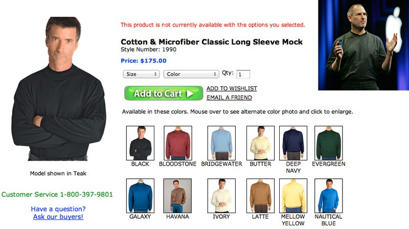 There's a Run on the Steve Jobs Turtleneck