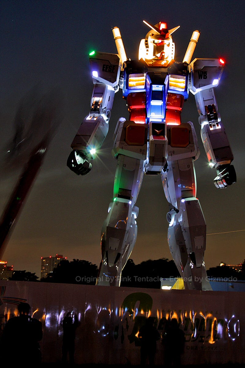 Activated Full Size Gundam Robot Looks Totally, Absofrikinlutely ZOMG!