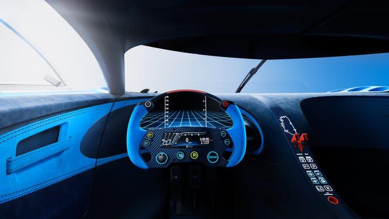 'Bugatti Vision Gran Turismo Concept: The Future Of Bugatti Looks Terrifyingly Awesome' from the web at 'http://i.kinja-img.com/gawker-media/image/upload/s--aUMqMBCW--/c_scale,fl_progressive,q_80,w_800/1430362454136681000.jpg'