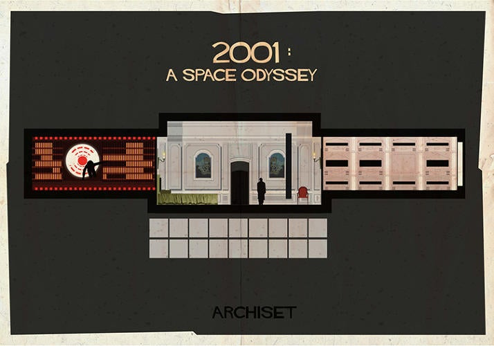 These Retro-Cool Posters Let You Put Classic Movie Sets On Your Walls