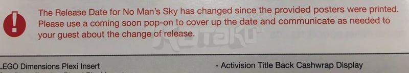 Sources: No Man's SkyDelayed