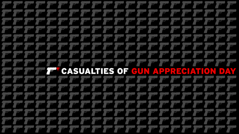 Here's a List of People Injured or Killed by Guns on 'Gun Appreciation Day'