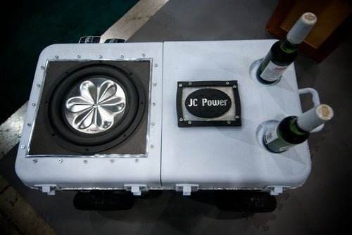 Beer Cooler Proves CES Running Out Of Places For Speakers