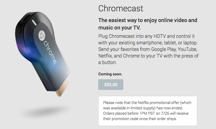 Find Out If You Made the Cutoff for Chromecast's Free Netflix Offer