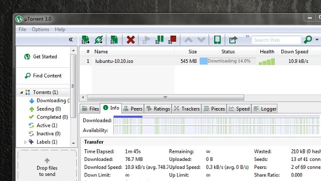 uTorrent 3.0 Adds Instant Media Streaming, Drag-and-Drop File Sharing to Our Favorite BitTorrent Client