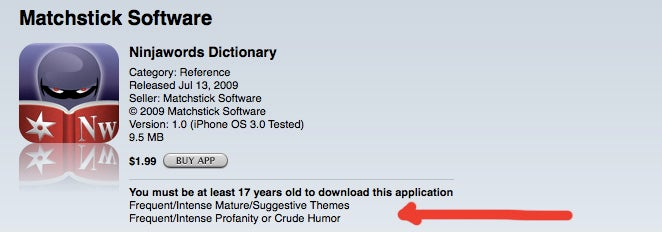 The Stupidest App Store Incident Yet: Apple Censors a Dictionary