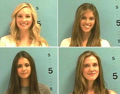 "Vampire Diaries Actresses Arrested For Roadside Topless ""Filming"""