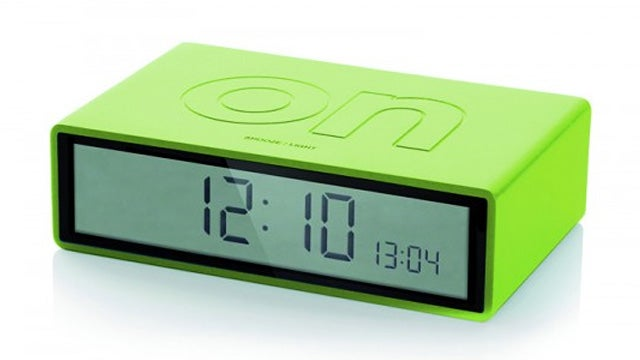 Just Flip This Lexon Clock To Activate Its Alarm