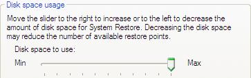 Vista Tip: Reduce System Restore disk usage