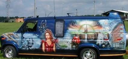 Freaking groovy airbrushed scifi and fantasy van art
