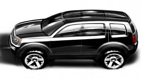 Detroit Auto Show: Honda Concept Pilot Drawing Revealed for Detroit