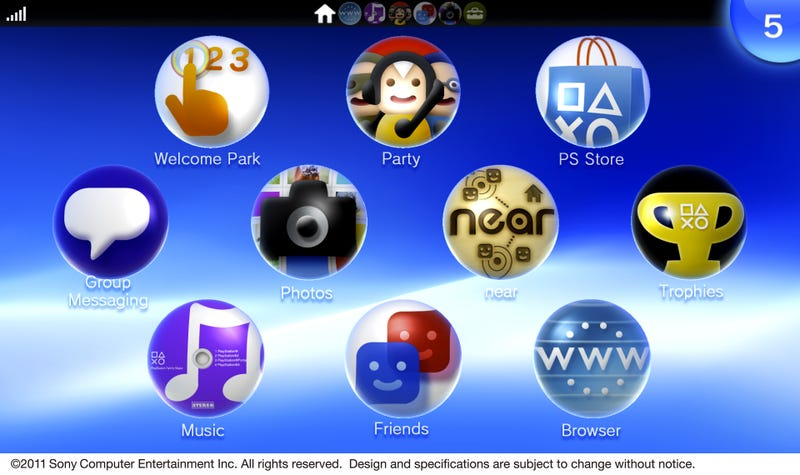 Welcome Home PS Vita. Your Look at the Vita's Start Screen.