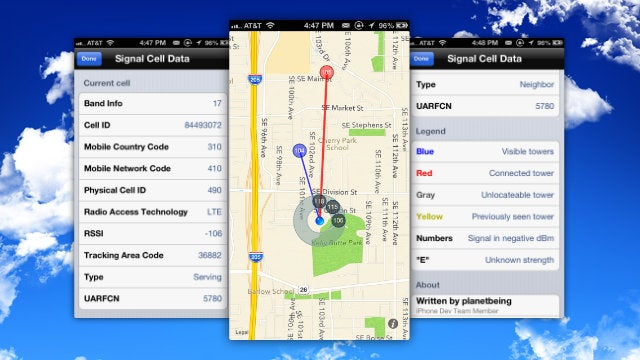 Signal 2 Plots Out the Cell Network In Your Area with Detailed Stats and Maps