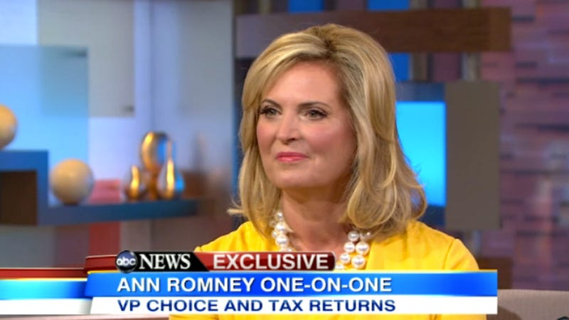 Ann Romney Defends the Secrets of Family's Fortress of Money