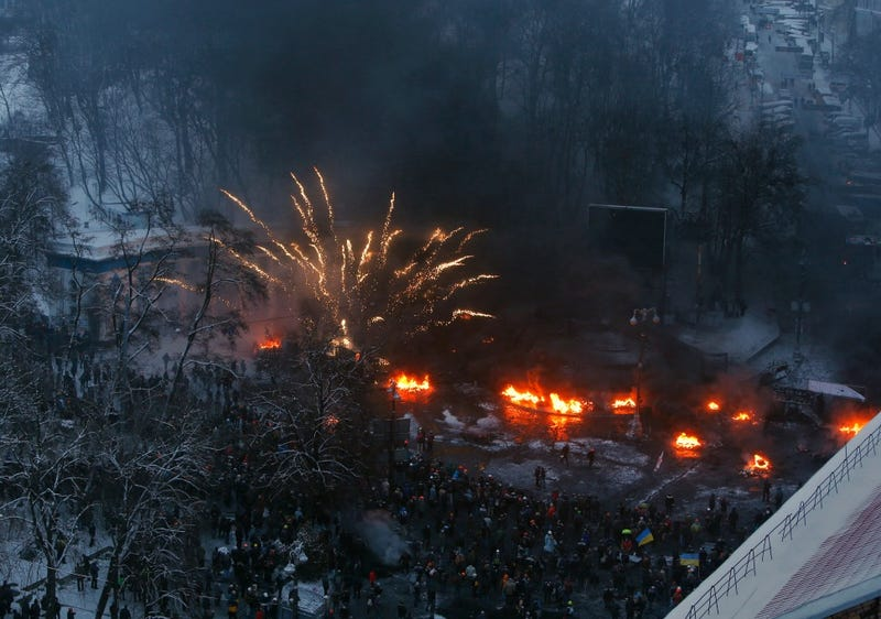 Breathtaking Photographs from the Fiery Protests Rocking Ukraine