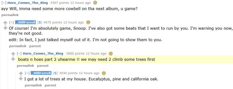 Will Ferrell's 'Ask Me Anything' on Reddit Is Pretty Great