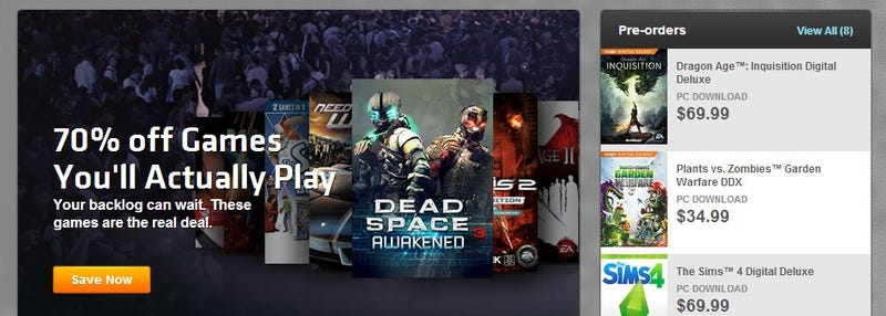 EA Game Sale Makes Fun Of Steam