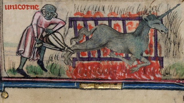 "Medievalists uncover ""lost"" recipe for roasted unicorn"