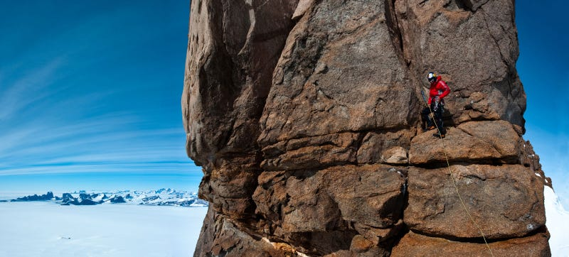 Extreme Climber Base Jumps Off Mountain In Antarctica