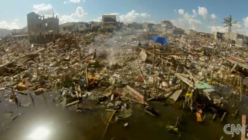 Drone Video Shows Shocking Extent of Typhoon Damage in Philippines