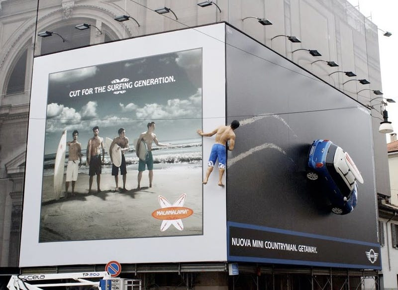 Mini's Awesome Fake Surfer Billboard