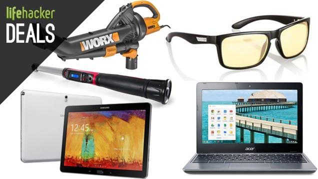 Deals: $150 Chromebook, Yard Tools, Galaxy Note, Gunnar Glasses