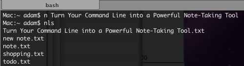 Turn Your Command Line into a Fast and Simple Note-Taking Tool