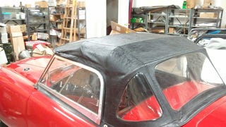 How to put up the top on a British sportscar