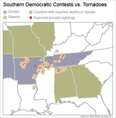 Killer Tornadoes Attack Only Clinton Country