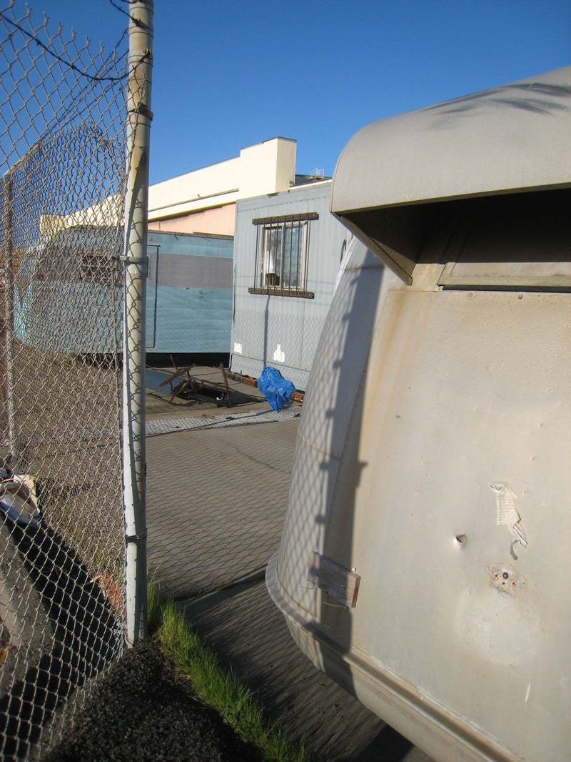 Old Trailers Rot Slowly Where A-6s Once Taxied