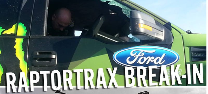 Some Waste Broke Into Ken Block's RaptorTRAX And Stole Things Inside