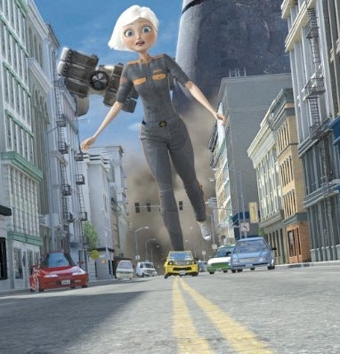 Monsters Vs. Aliens Features 3-D Graphics, Flat Plot
