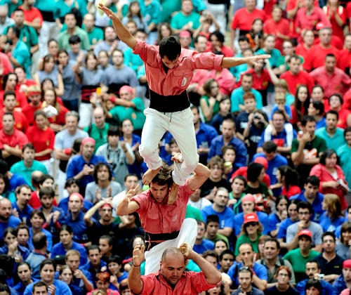The Human Tower Competition Today in Spain