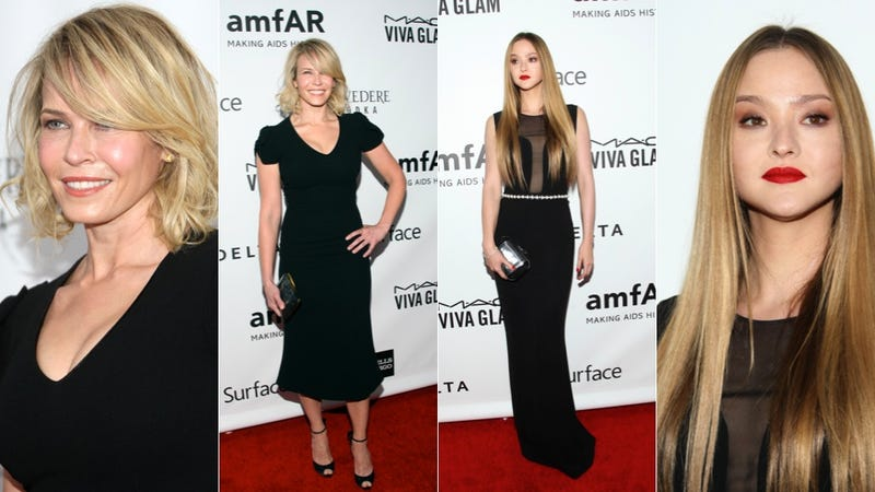 Slinky Gowns and Grace Jones in an Intergalactic Hat at the amfAR Gala