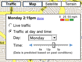 Google Maps Predicts Traffic Conditions for Your Travel Time