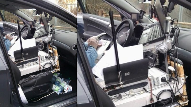 This Man Was Busted On The Autobahn With The Craziest Mobile Office We've Ever Seen