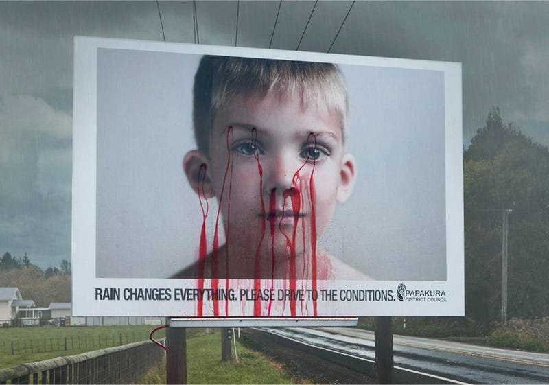 Kiwis Remind Us To Drive Safely With Bleeding Billboard