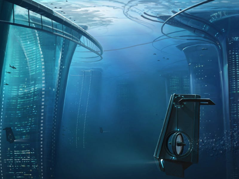 Gorgeous Art Shows What Life Would Be Like in Cities Beneath the Sea