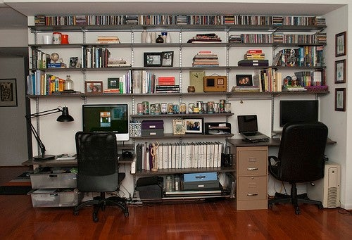 The Compact Office-On-A-Wall Workspace