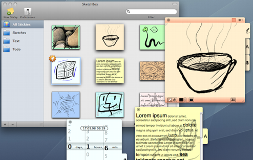SketchBox Does Powerful Sticky Notes