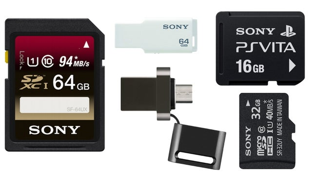 A Ton of Sony Storage is On Sale Today, Even a Vita Memory Card!