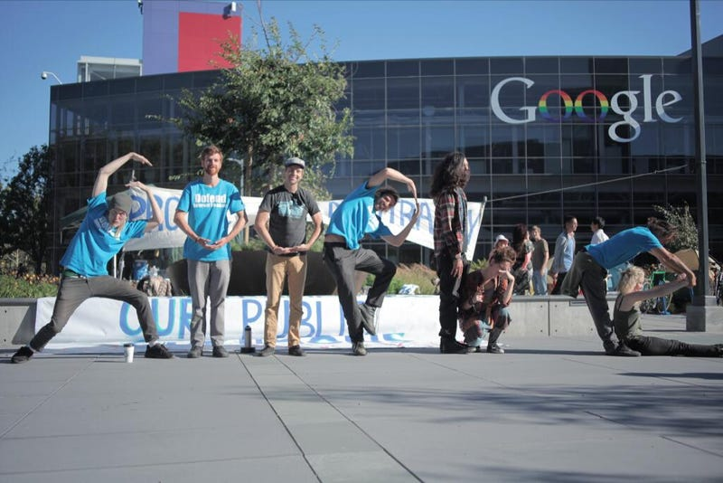 Police Arrested Several Occupy Google Protesters Outside Google's HQ