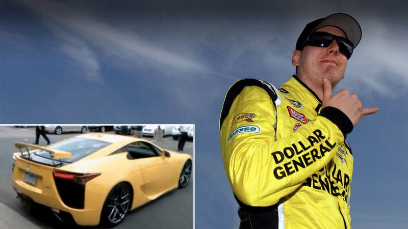 Did Lexus tell Kyle Busch to get a speeding ticket on purpose?